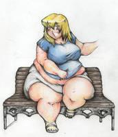 Saiyumi crushing a bench by the-murdellicious
