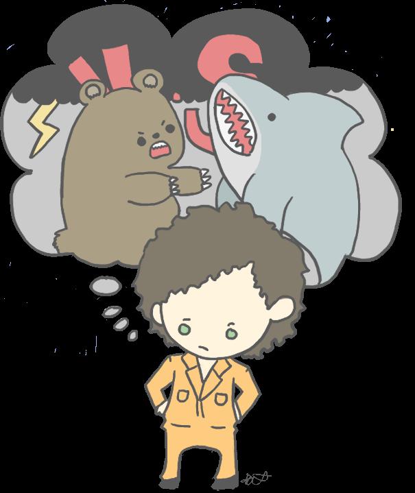 If a bear and a shark.. by StrawHatAna