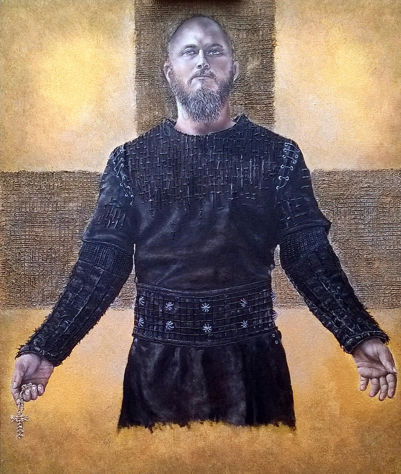 In tribute to Ragnar. Oil on canvas 70x60 cm by Inspektore