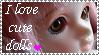 I love cute dolls stamp by Burusai