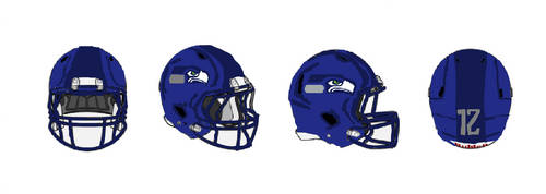Request: Seattle Seahawks Helmets by Shadowpersonguy
