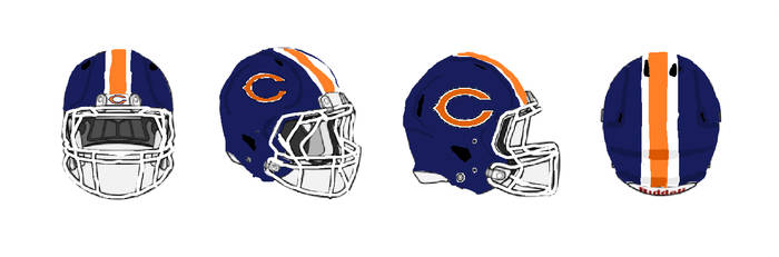 Request: Chicago Bears Helmets by Shadowpersonguy