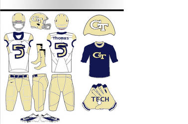 Georgia Tech Uniform Concepts by Shadowpersonguy