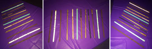 Harry Potter themed wands by Kai45