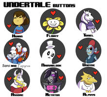 UNDERTALE buttons by Simatra