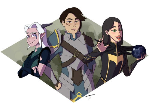 Rayla, Amaya, and Claudia (The Dragon Prince)