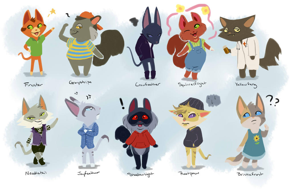 Warrior Cats As Animal Crossing Villagers By Simatra On Deviantart