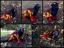 Handmade Poseable Volcano Dragon by KaypeaCreations