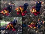 Handmade Poseable Volcano Dragon