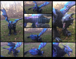 -SOLD- Handmade poseable Mystic Dragon by KaypeaCreations