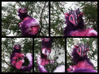 -SOLD- Handmade Poseable Baby Berry Dragon by KaypeaCreations