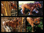 Handmade Poseable Saber-toothed Cat SOLD