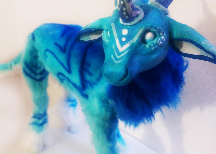 Handmade Poseable water guradian 50% off by KaypeaCreations