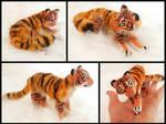 Handmade Poseable Mini Tiger