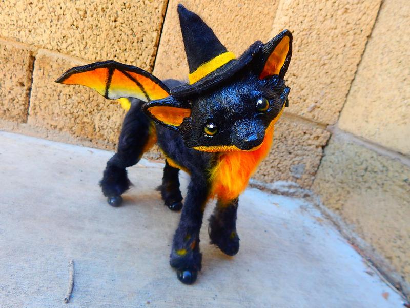 Halloween Foxie by KaypeaCreations