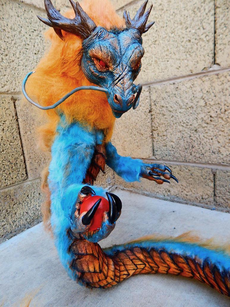 Handmade Poseable Ancient Guardian Dragon by KaypeaCreations