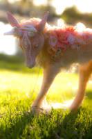 Handmade Poseable Spring Deer by KaypeaCreations