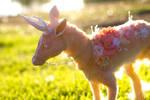Handmade Poseable Spring Deer