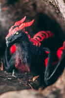 Handmade Poseable Black Wyvern (For Sale) by KaypeaCreations