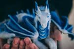 Mini Ice Dragon Poseable Art Doll
