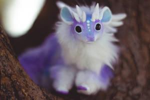 Mini Cloud Dragon Poseable Art Doll by KaypeaCreations