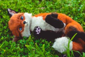 Handmade Poseable Baby Fox Art Doll by KaypeaCreations