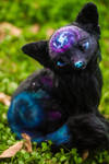 Handmade Poseable Galaxy Fox Art Doll
