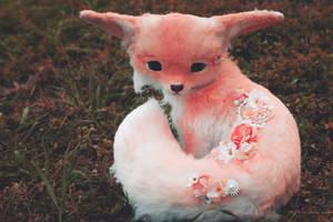 Handmade Poseable Sakura Fox Art Doll by KaypeaCreations