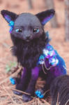 Handmade Poseable Lunar Fox Art Doll