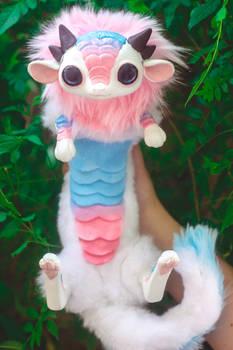 Handmade Poseable Cotton Cady Baby Dragon Art Doll