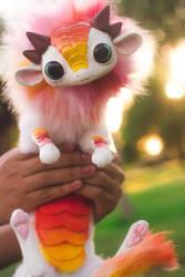 Handmade Poseable Baby StarBurst Dragon Art Doll by KaypeaCreations