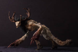 Handmade Poseable Wendigo Art Doll by KaypeaCreations