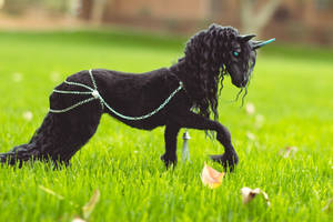 Royal Friesian Unicorn Art Doll (FOR SALE) by KaypeaCreations