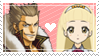 [014] Shi-Long x Aurora Stamp by rukia-stamps