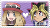 [023] Yugi x Serena Stamp by rukia-stamps
