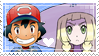 [049] Ash/Lillie Stamp by rukia-stamps