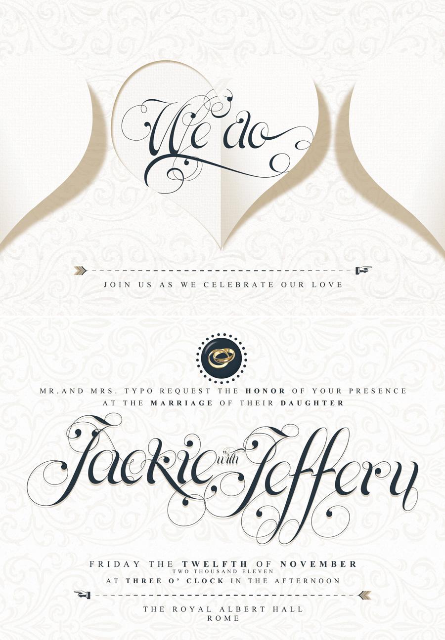 Elegant Wedding Invitation, RSVP and Info Card by ShermanJackson ...