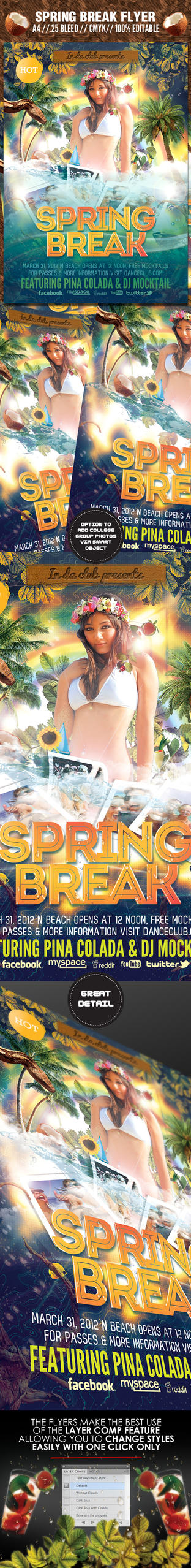 Spring Break Flyer by ShermanJackson