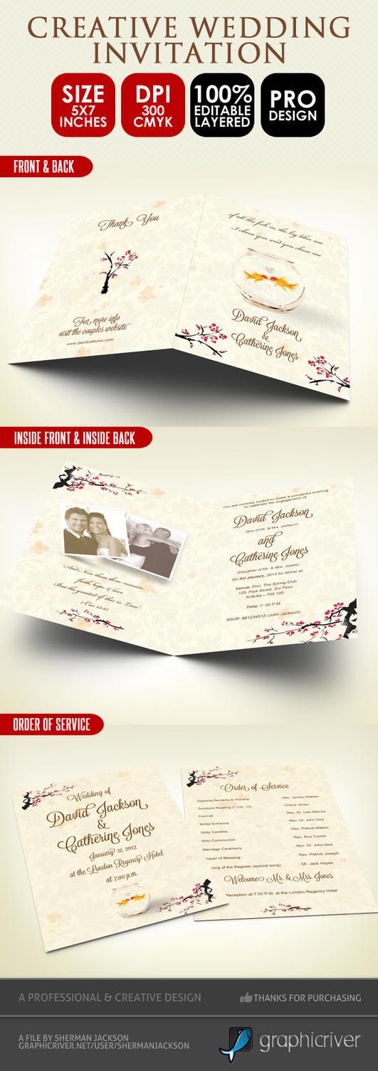 Creative Wedding Invitation And Order Of Service By ShermanJackson On DeviantArt