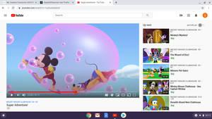 Super Mickey trapped in a super bubble!