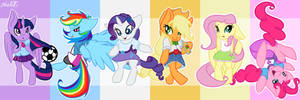 Ponies in Equestria Girls Clothing