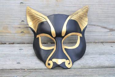 Leather Bast Mask by SilverCicada