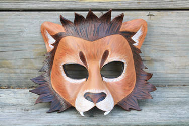 Leather Lion Mask by SilverCicada