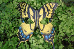 Yellow Swallowtail Butterfly Mask Leather