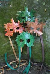 Leaf masks by SilverCicada