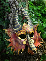 Greater Fire Dragon Mask by SilverCicada