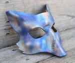 Faux Raku Scar Fox Leather Mask