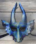 Obsidian Dragon Leather Mask