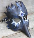 Third Eye Crow Leather Mask by SilverCicada