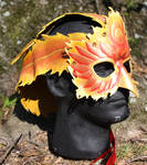 Leather Phoenix Headdress Mask Thing by SilverCicada